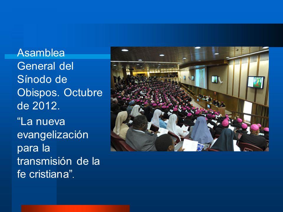 Asamblea General del Sínodo de Obispos. Octubre de 2012.