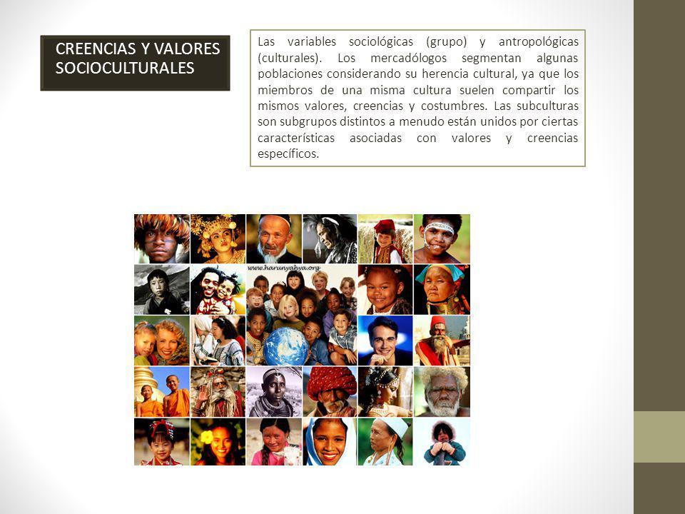 CREENCIAS Y VALORES SOCIOCULTURALES