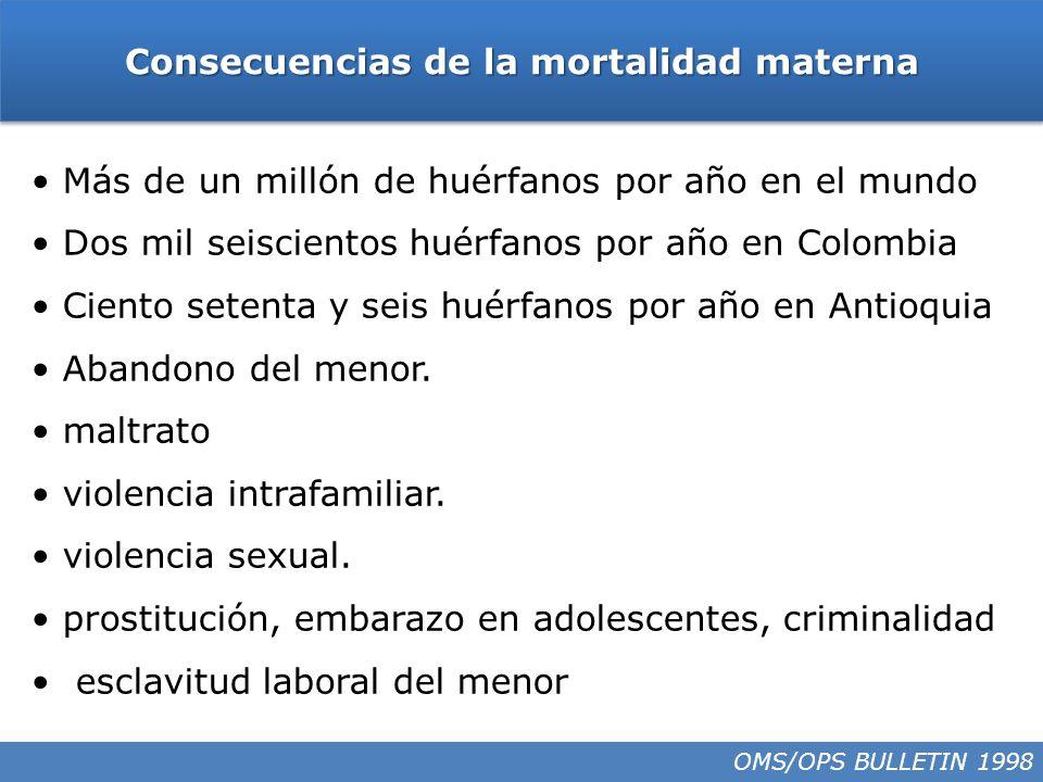 Consecuencias de la mortalidad materna