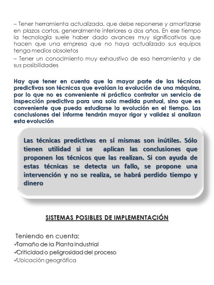 SISTEMAS POSIBLES DE IMPLEMENTACIÓN