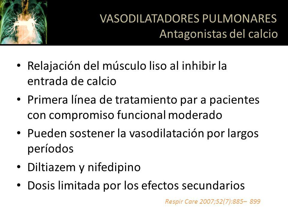 VASODILATADORES PULMONARES Antagonistas del calcio