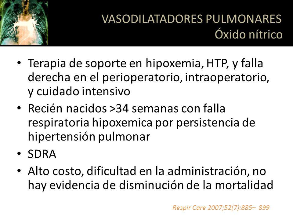 VASODILATADORES PULMONARES Óxido nítrico