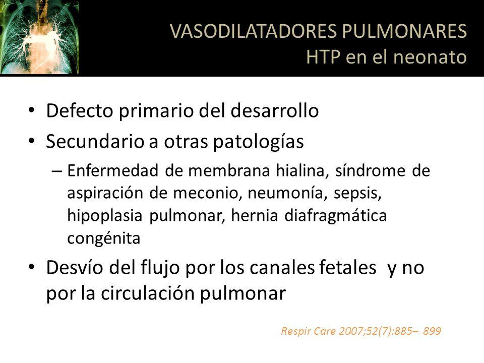 VASODILATADORES PULMONARES HTP en el neonato