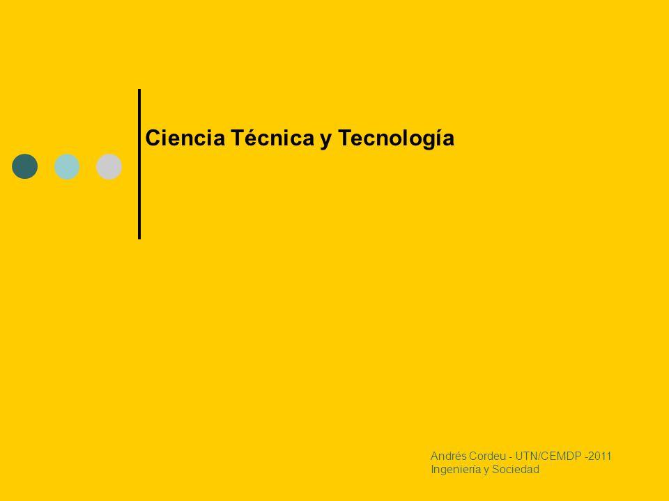 Ciencia Técnica y Tecnología