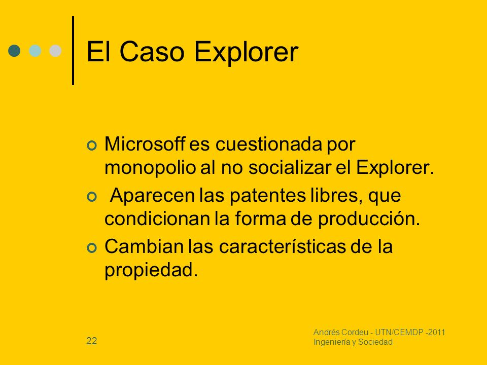 El Caso Explorer Microsoff es cuestionada por monopolio al no socializar el Explorer.
