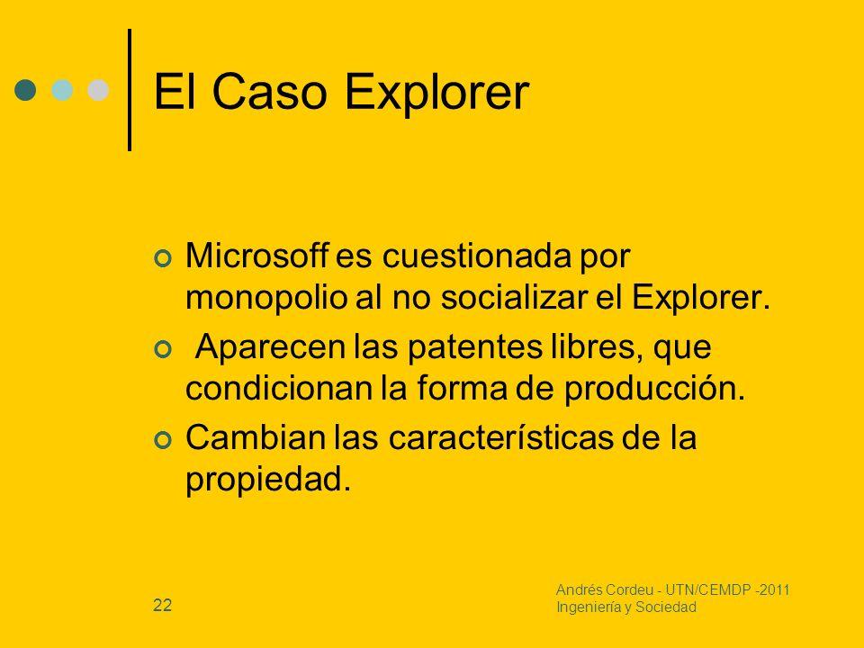 El Caso ExplorerMicrosoff es cuestionada por monopolio al no socializar el Explorer.