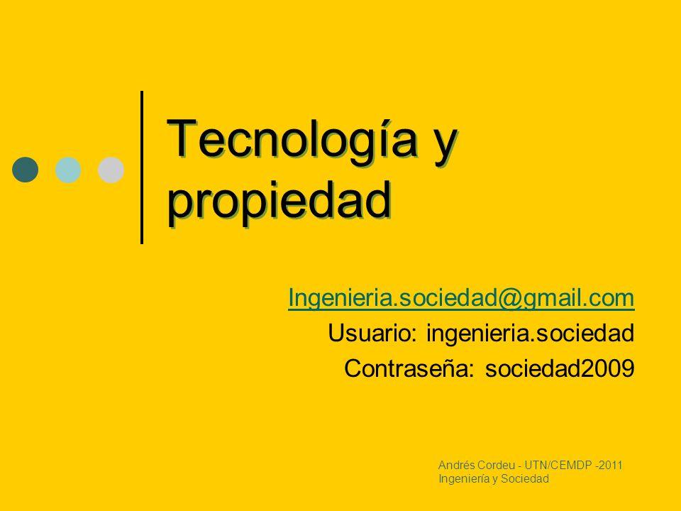 Tecnología y propiedad