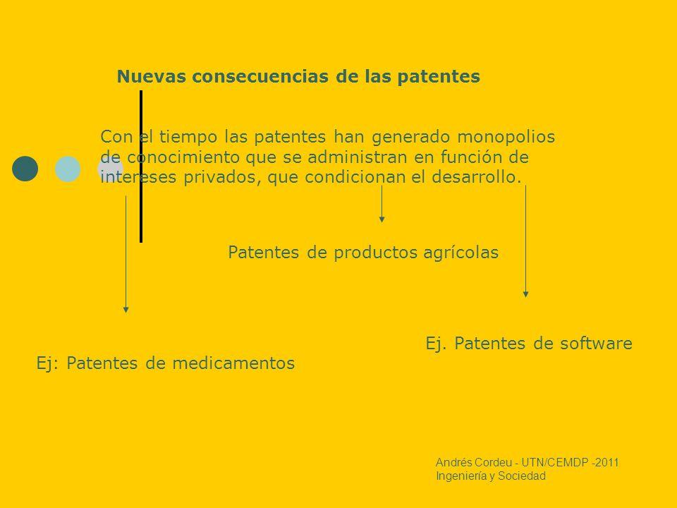 Nuevas consecuencias de las patentes