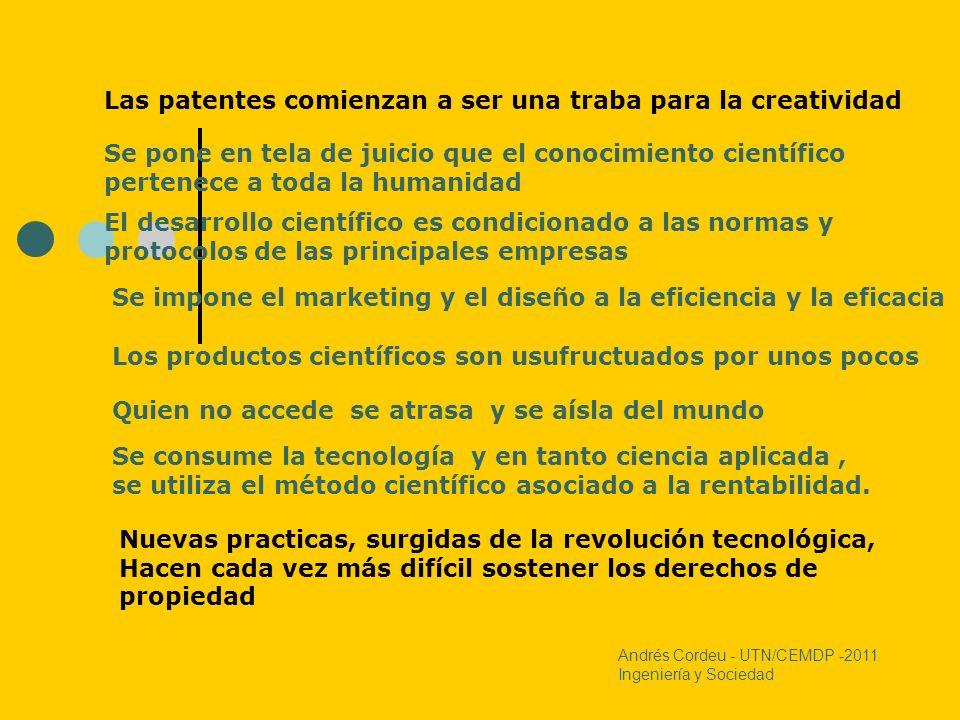 Las patentes comienzan a ser una traba para la creatividad