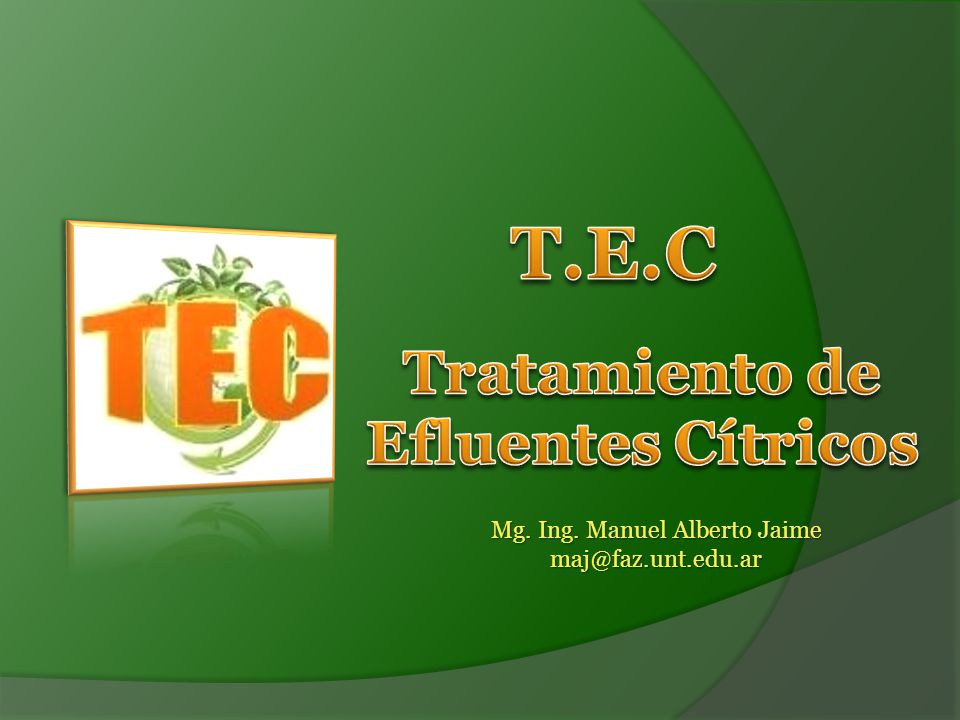 Tratamiento de Efluentes Cítricos