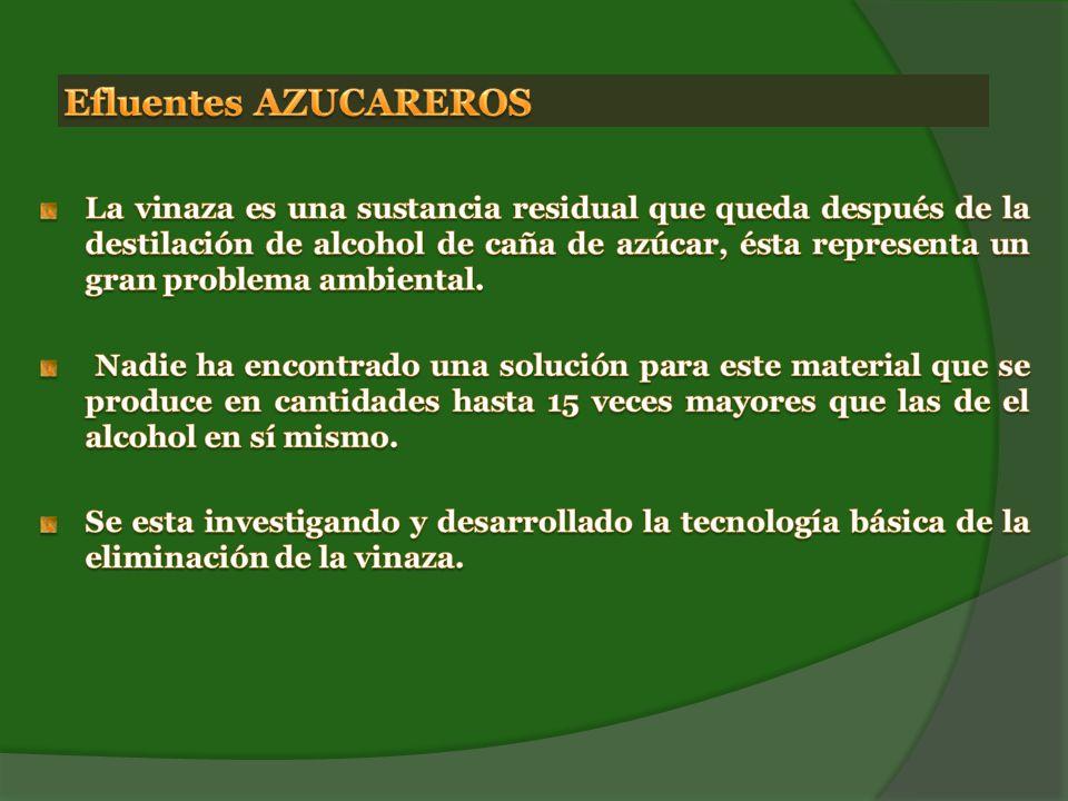 Efluentes AZUCAREROS