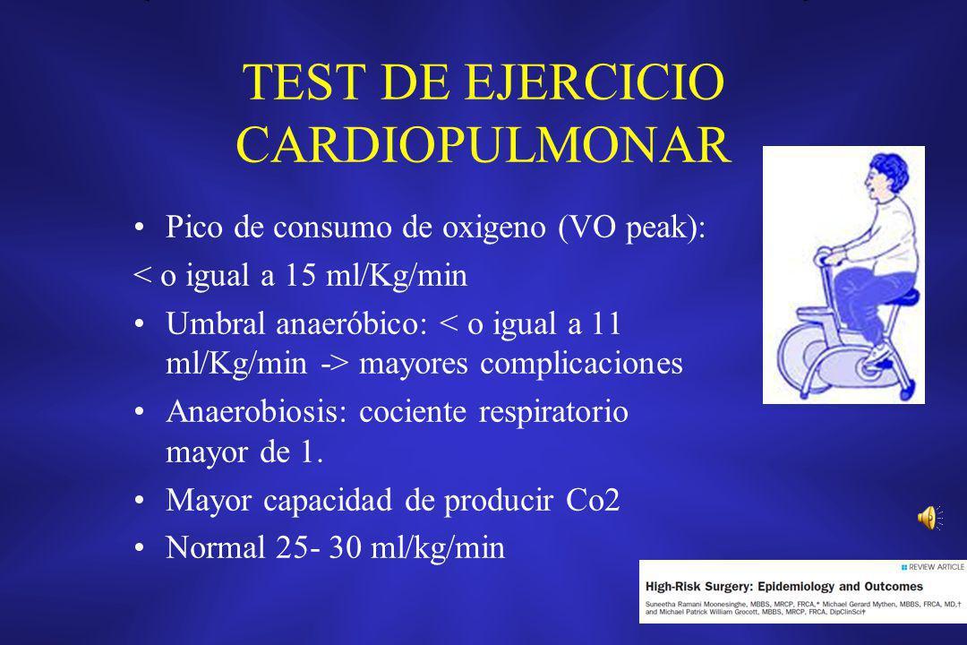 TEST DE EJERCICIO CARDIOPULMONAR