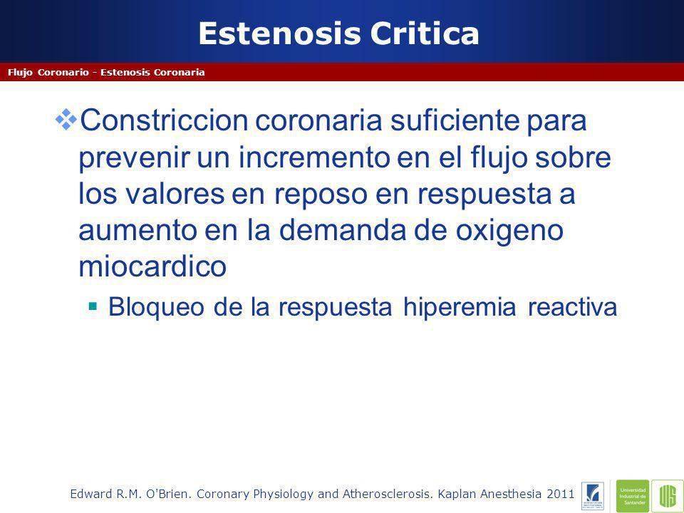 Estenosis Critica Flujo Coronario - Estenosis Coronaria.