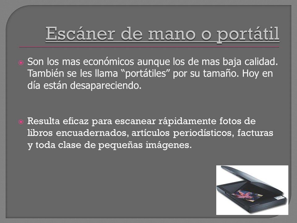 Escáner de mano o portátil