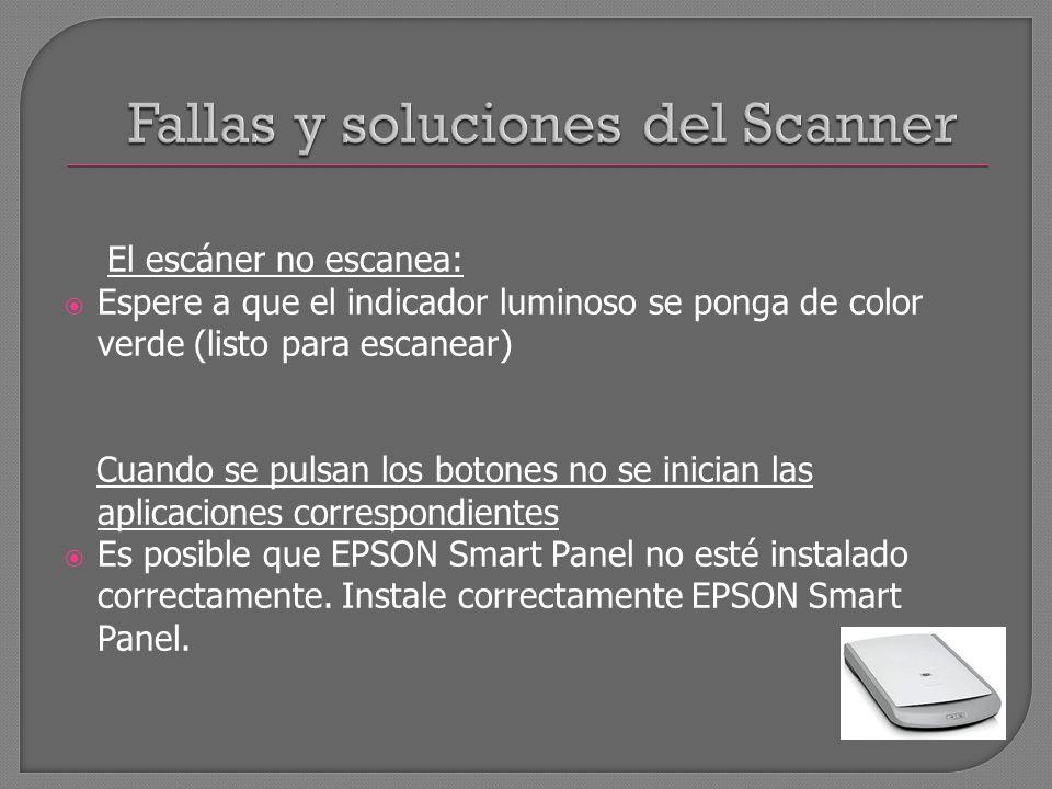 Fallas y soluciones del Scanner