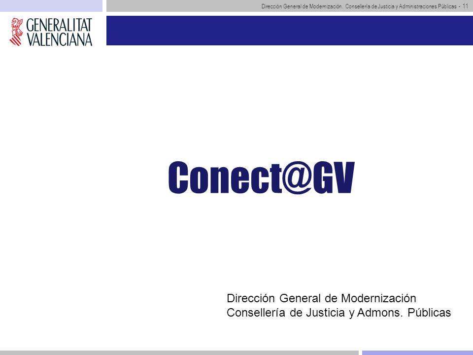 Conect@GV Dirección General de Modernización