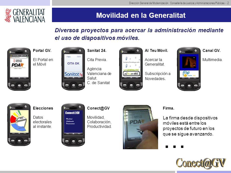 Movilidad en la Generalitat