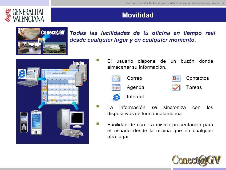 MovilidadConect@GV. Todas las facilidades de tu oficina en tiempo real desde cualquier lugar y en cualquier momento.