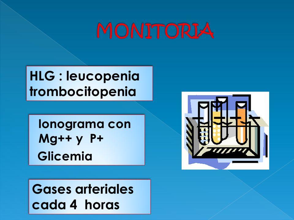 MONITORIA HLG : leucopenia trombocitopenia
