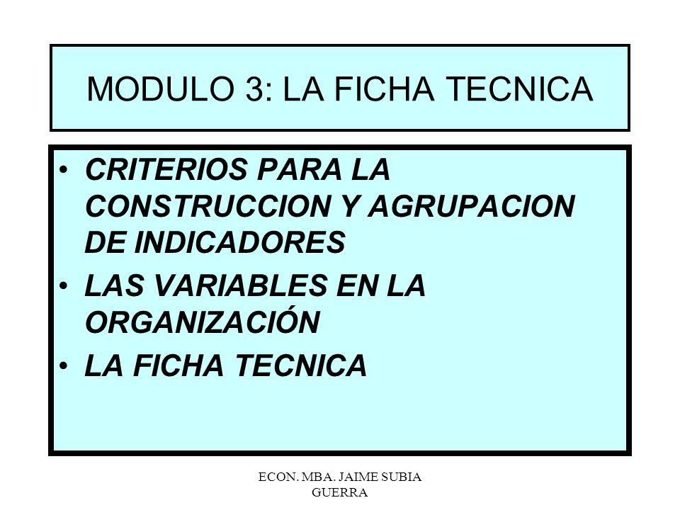 MODULO 3: LA FICHA TECNICA