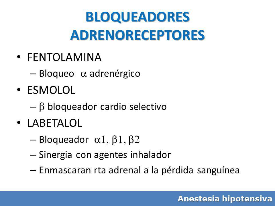 BLOQUEADORES ADRENORECEPTORES