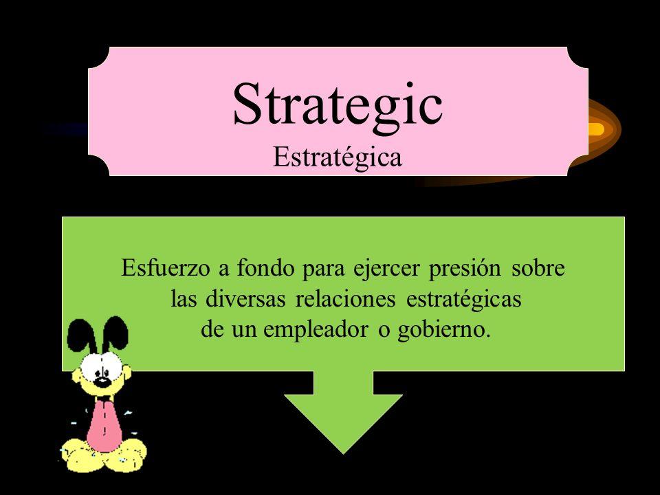 Strategic Estratégica Esfuerzo a fondo para ejercer presión sobre