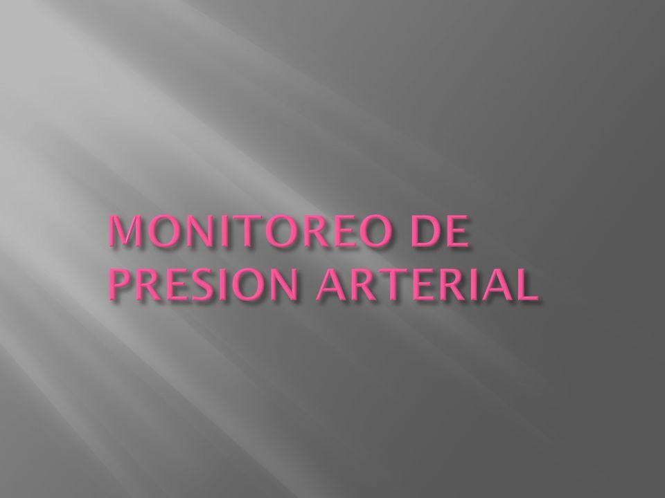 MONITOREO DE PRESION ARTERIAL