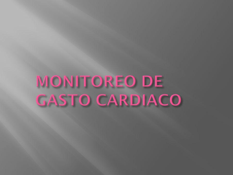 MONITOREO DE GASTO CARDIACO