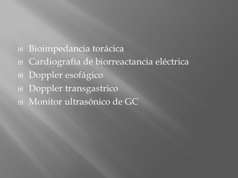 Bioimpedancia torácica