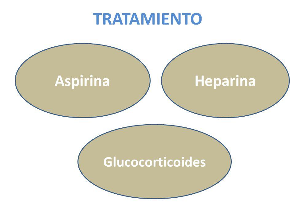 TRATAMIENTO Aspirina Heparina Glucocorticoides