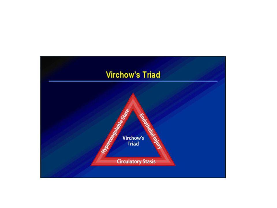 El anestesiólogo debe considerar el escenario de un estado protrombótico que tiene todos los aspectos de la triada de vichow alterada y debe impactar en ellos