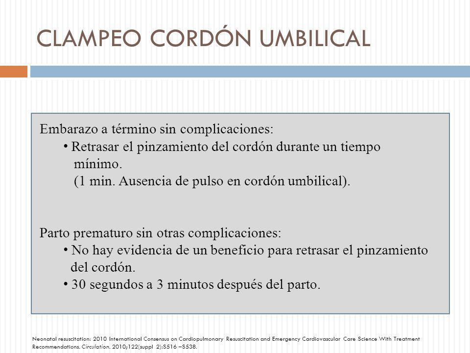 CLAMPEO CORDÓN UMBILICAL