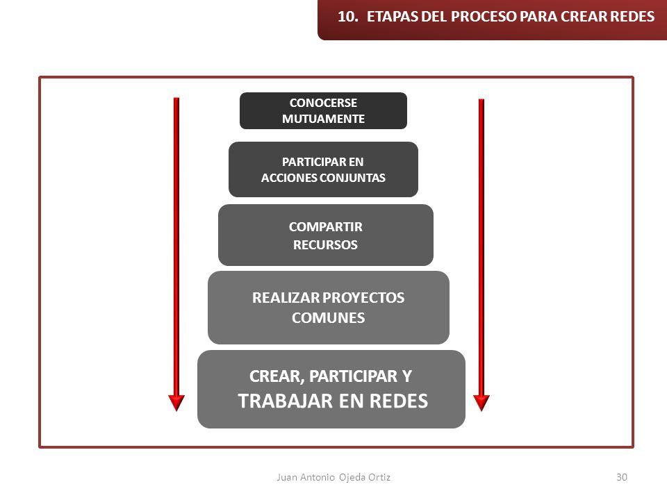 10. ETAPAS DEL PROCESO PARA CREAR REDES