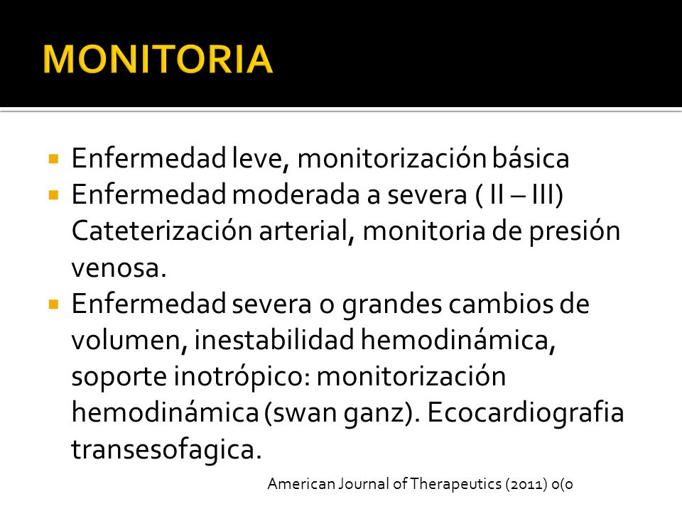 MONITORIA Enfermedad leve, monitorización básica