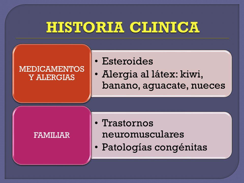 MEDICAMENTOS Y ALERGIAS