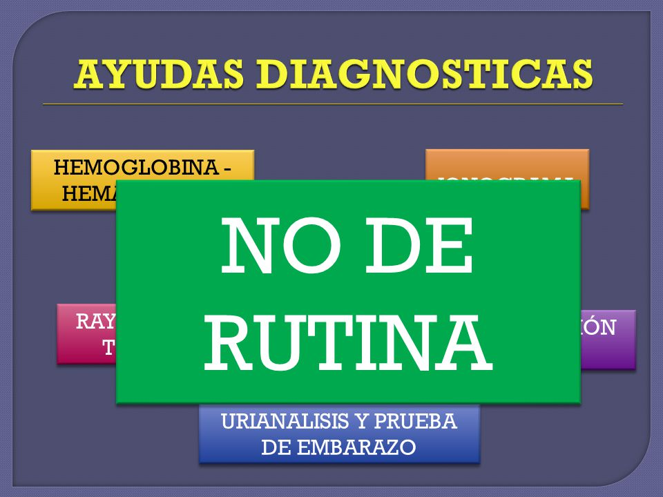 NO DE RUTINA AYUDAS DIAGNOSTICAS HEMOGLOBINA - HEMATOCRITO IONOGRAMA