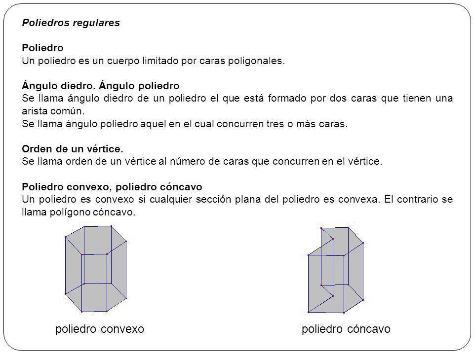 poliedro convexo poliedro cóncavo Poliedros regulares Poliedro
