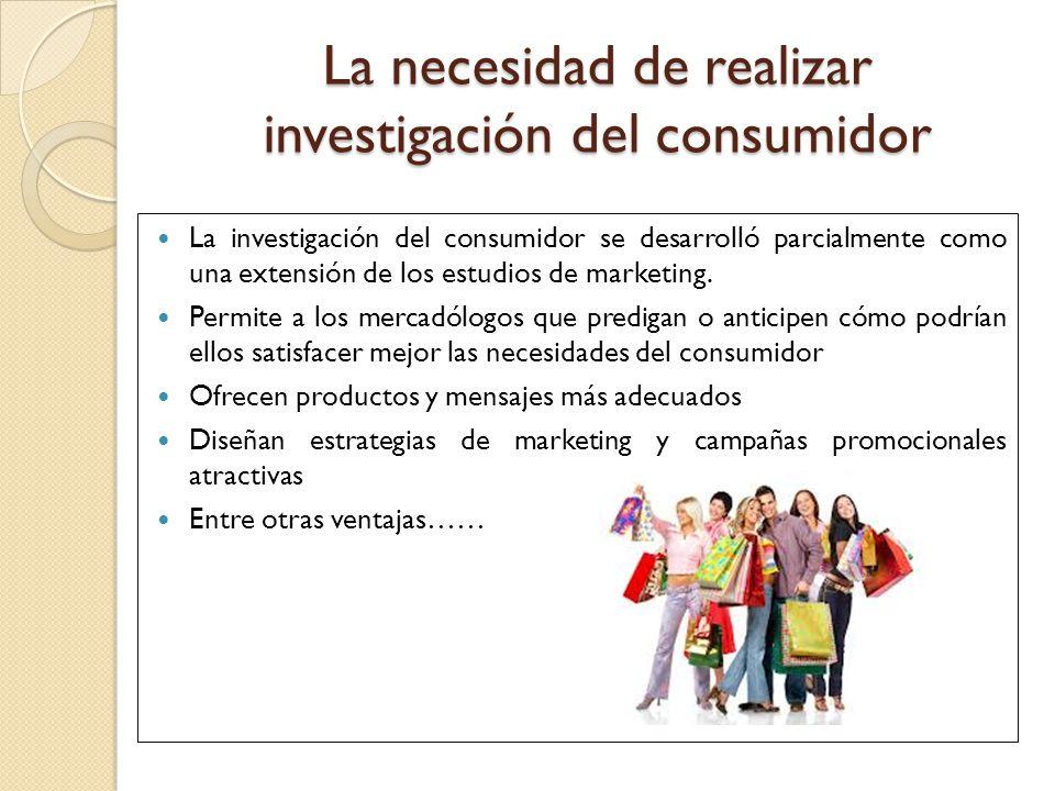 La necesidad de realizar investigación del consumidor