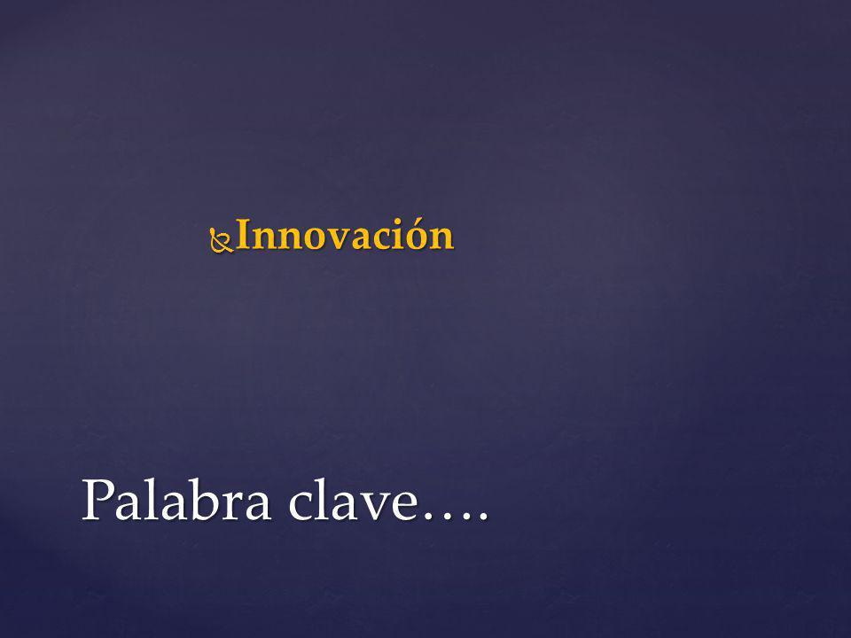 Innovación Palabra clave….