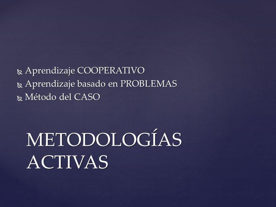 METODOLOGÍAS ACTIVAS Aprendizaje COOPERATIVO
