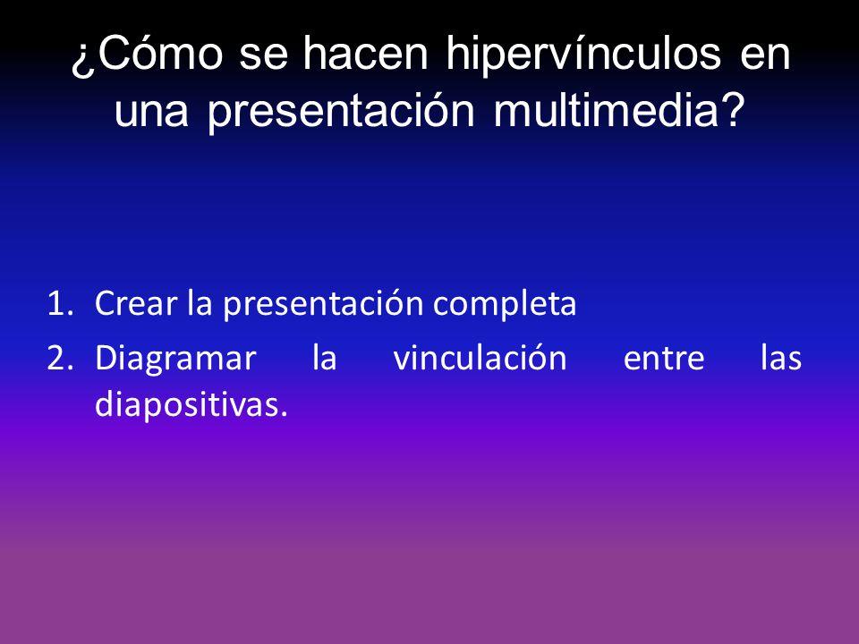 ¿Cómo se hacen hipervínculos en una presentación multimedia