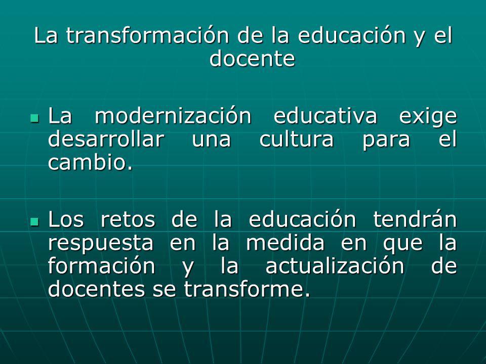 La transformación de la educación y el docente