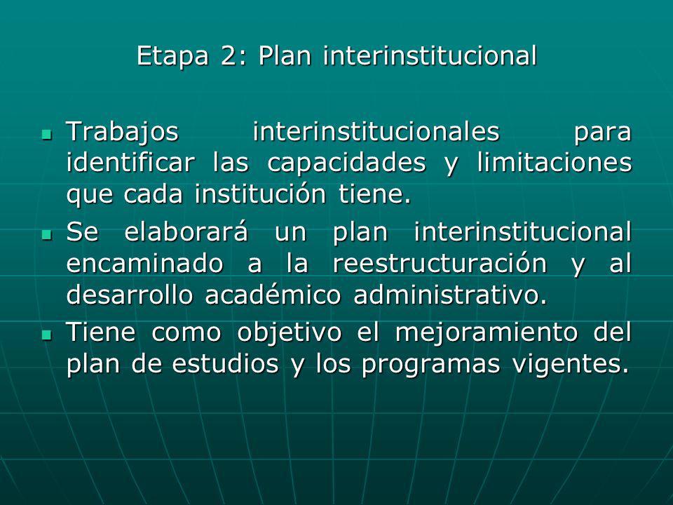 Etapa 2: Plan interinstitucional