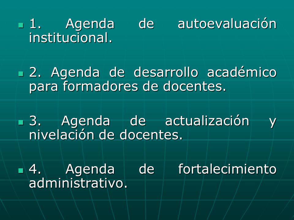 1. Agenda de autoevaluación institucional.