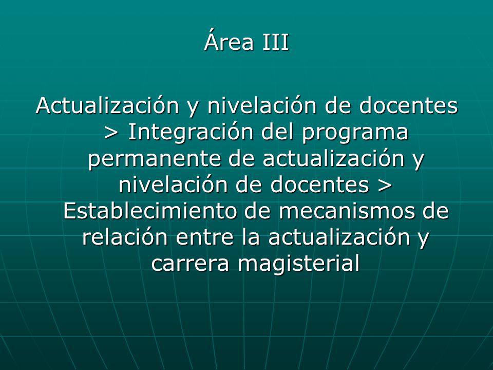 Área III