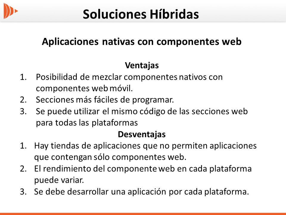 Aplicaciones nativas con componentes web