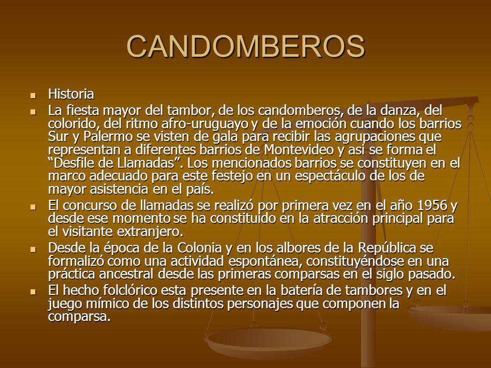 CANDOMBEROS Historia.