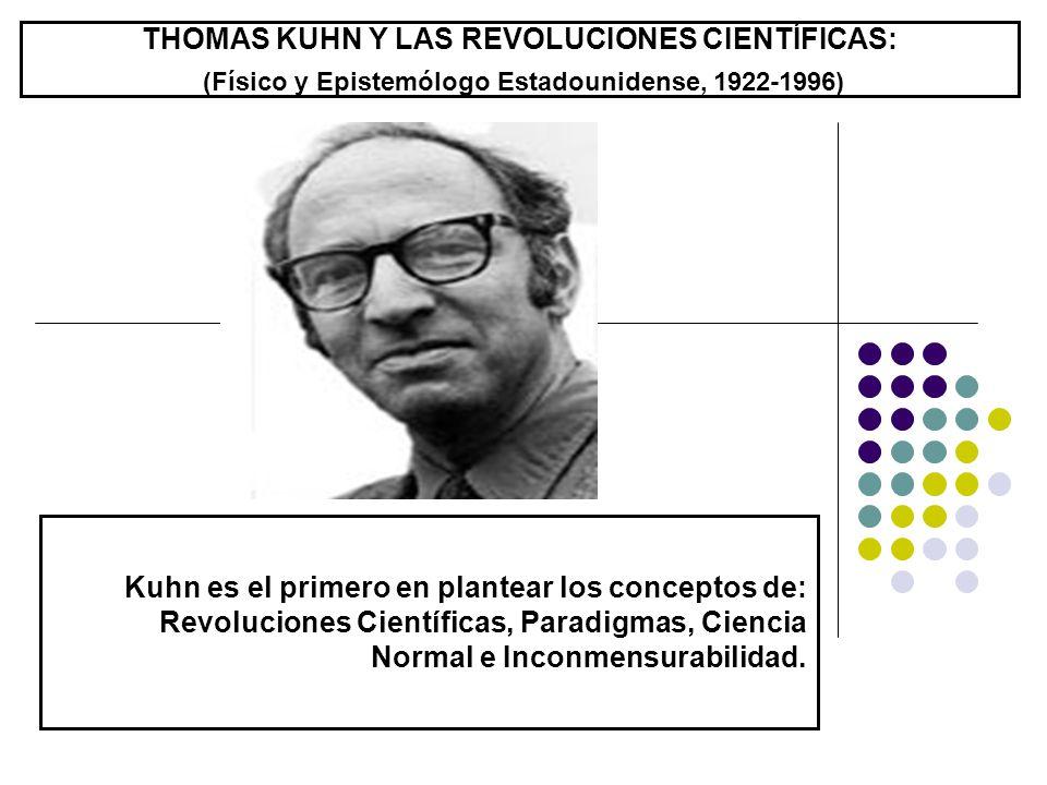 THOMAS KUHN Y LAS REVOLUCIONES CIENTÍFICAS: