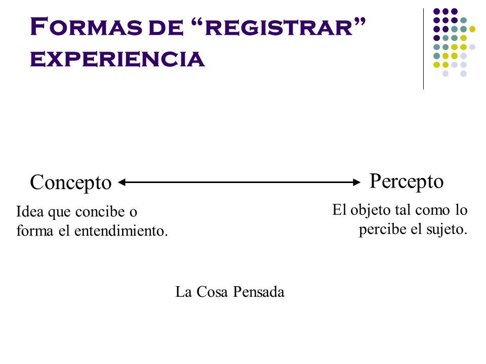 Formas de registrar experiencia