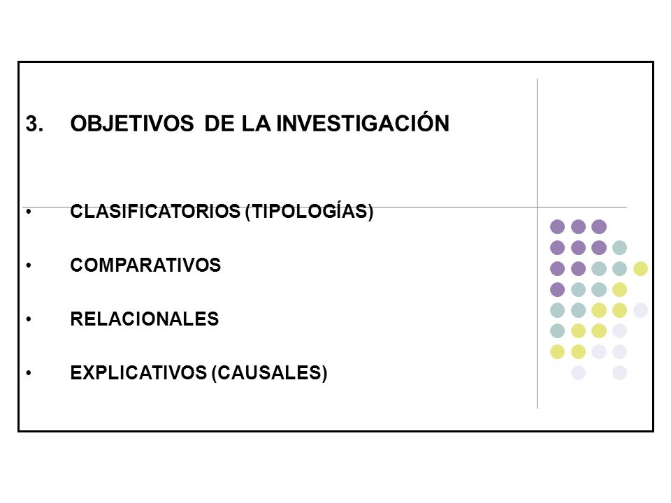 OBJETIVOS DE LA INVESTIGACIÓN